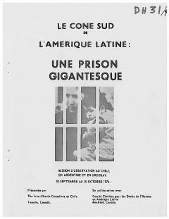 """Rapport """"Mission d'observation au Chili, en Argentine et en Uruguay"""" 1976 / Archives du Comité pour les droits humains en Amérique latine"""
