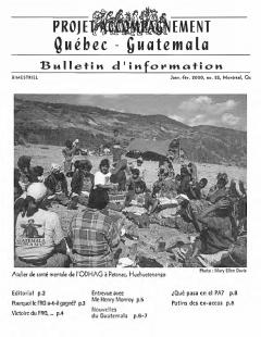 Bulletin d'information PAQG Nº22 Janvier – Février 2000 / Courtoisie du Projet Accompagnement Québec-Guatemala