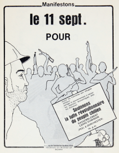 Rassemblement en solidarité avec le Chili 11 Septembre  / Courtoisie de Suzanne Chartrand – Comité Québec-Chili