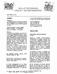 Bulletin d'information PAQG Vol.1 Nº4 Septembre 1994 / Courtoisie du Projet Accompagnement Québec-Guatemala