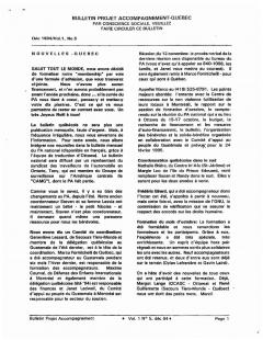 Vol.1_No. 5 – Décembre 1994