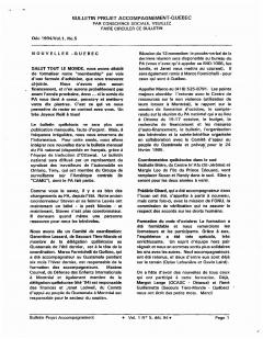 Bulletin d'information PAQG  Vol.1 Nº 5 Décembre 1994 / Courtoisie du Projet Accompagnement Québec-Guatemala