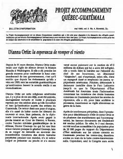 Bulletin d'information PAQG Vol.3 Nº4 Mai 1996 / Courtoisie du Projet Accompagnement Québec-Guatemala
