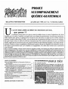 Vol.No.14 – Juin – Juillet – aout 1998