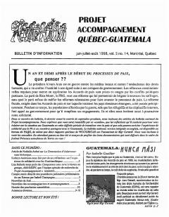 Bulletin d'information PAQG Vol. 5 Nº14 Juin – Juillet – Août 1998 / Bulletin d'information PAQG
