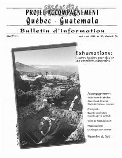 Bulletin d'information PAQG Nº20 Septembre – Octobre 1999 / Courtoisie du Projet Accompagnement Québec-Guatemala