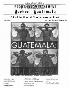 Bulletin d'information PAQG Nº21 Novembre – Décembre 1999 / Courtoisie du Projet Accompagnement Québec-Guatemala