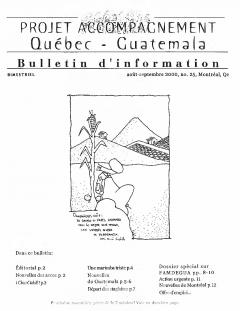 Bulletin d'information PAQG Nº25 Août – Septembre 2000 / Courtoisie du Projet Accompagnement Québec-Guatemala