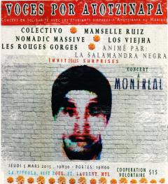 Concert en solidarité avec les 43 faltan d'Ayotzinapa, jeudi le 5 mars 2015
