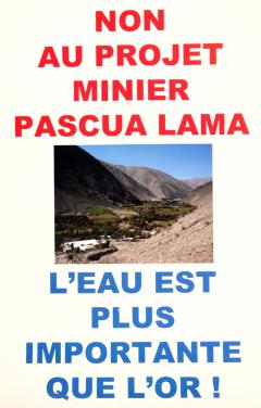 Non à Pascua-Lama, projet minier, 2007