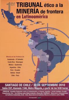 1er Tribunal ético a la Minería de frontera en Latinoamérica, Santiago de Chile, 30 septembre 2010