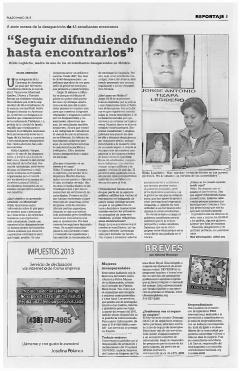 A siete meses de la desaparición de 43 estudiantes mexicanos, Pulso Mayo, 2015, Nº20