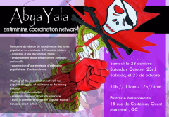 Abya Yala, antimining coordination network, samedi 23 octobre 2010