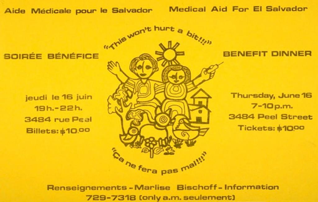 Aide médicale pour le Salvador. Soirée bénéfice