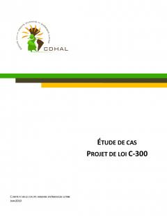 CDHAL, Étude de cas loi C-300, juin 2010