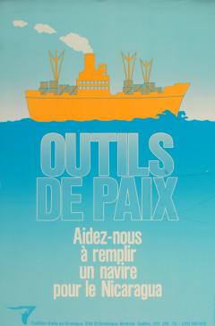 Campagne Outils de paix. Un navire pour le Nicaragua