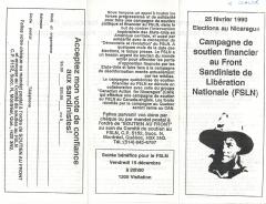 Campagne de soutien financier au FSLN