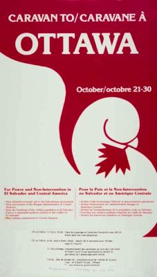 Caravane à Ottawa pour la paix et la non-intervention au Salvador et en Amérique centrale