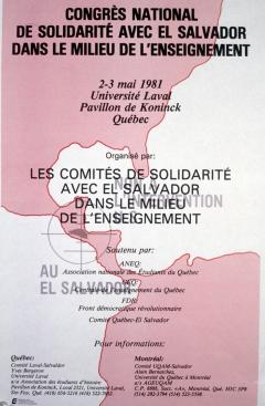 Congrès national de solidarité avec El Salvador dans le milieu de l'enseignement, 2-3 mai 1981