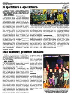 De spectateurs à spectActeurs, tournée québécoise de la troupe de comédiens du PASC, 28 mai 2014, Le Manic