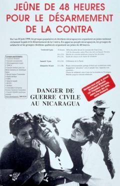 Jeûne de 48 heures pour le désarmement de la Contra, du 1 au 10 juin 1990