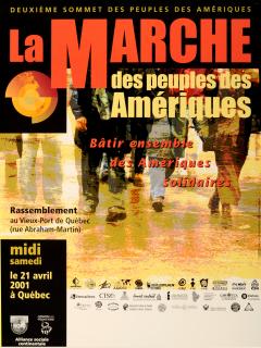 La Marche des peuples des Amériques, 21 avril 2001