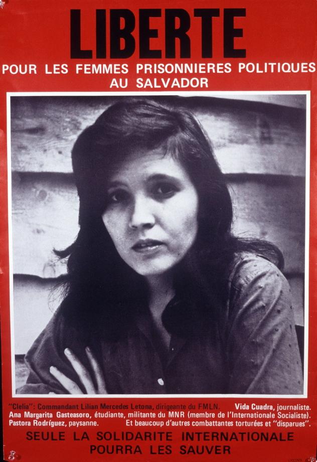 Liberté pour les femmes prisonnières politiques au Salvador,1987