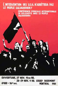 L'intervention des U.S.A n'arrêtera pas le peuple salvadorien, novembre 1981