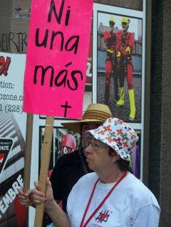 Manifestation contre les mines à ciel ouvert, 22 juillet 2010, CDHAL 011