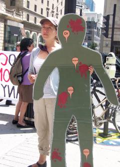 Manifestation contre les mines à ciel ouvert, 22 juillet 2010, CDHAL 015