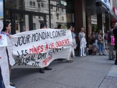 Manifestation contre les mines à ciel ouvert, 22 juillet 2010, DSC09130