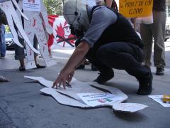 Manifestation contre les mines à ciel ouvert, 22 juillet 2010, DSC09132