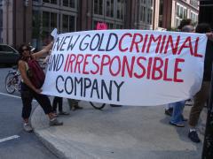 Manifestation contre les mines à ciel ouvert, 22 juillet 2010, DSC09138