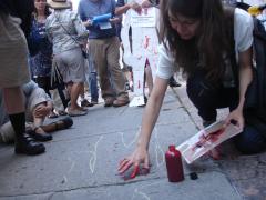 Manifestation contre les mines à ciel ouvert, 22 juillet 2010, DSC09141