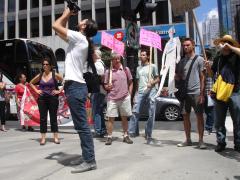Manifestation contre les mines à ciel ouvert, 22 juillet 2010, DSC09143