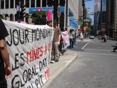 Manifestation contre les mines à ciel ouvert, 22 juillet 2010, DSC09145