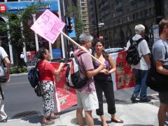 Manifestation contre les mines à ciel ouvert, 22 juillet 2010, DSC09147
