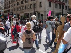 Manifestation contre les mines à ciel ouvert, 22 juillet 2010, DSC09150