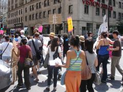 Manifestation contre les mines à ciel ouvert, 22 juillet 2010, DSC09151