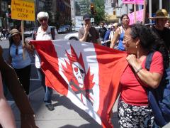 Manifestation contre les mines à ciel ouvert, 22 juillet 2010, DSC09153