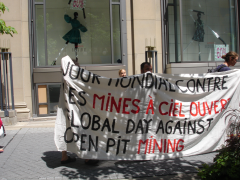 Manifestation contre les mines à ciel ouvert, 22 juillet 2010, DSC09158