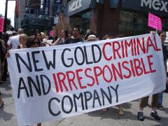 Manifestation contre les mines à ciel ouvert, 22 juillet 2010, DSC09171