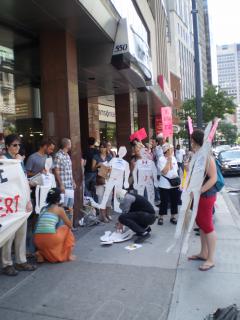 Manifestation contre les mines à ciel ouvert, 22 juillet 2010, P6011086