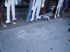 Manifestation contre les mines à ciel ouvert, 22 juillet 2010, P6011088