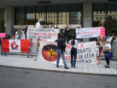 Manifestation contre les mines à ciel ouvert, 22 juillet 2010, P6011106