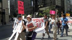 Manifestation contre les mines à ciel ouvert, 22 juillet 2010, SAM_3018, de Alex
