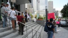 Manifestation contre les mines à ciel ouvert, 22 juillet 2010 SAM_3034, de Alex