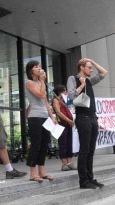 Manifestation contre les mines à ciel ouvert, 22 juillet 2010, SAM_3036, de Alex