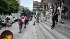Manifestation contre les mines à ciel ouvert, 22 juillet 2010, SAM_3046, de Alex