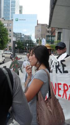 Manifestation contre les mines à ciel ouvert, 22 juillet 2010, SAM_3049, de Alex